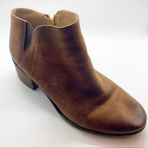 Franco Starto brown distressed leather boot 10
